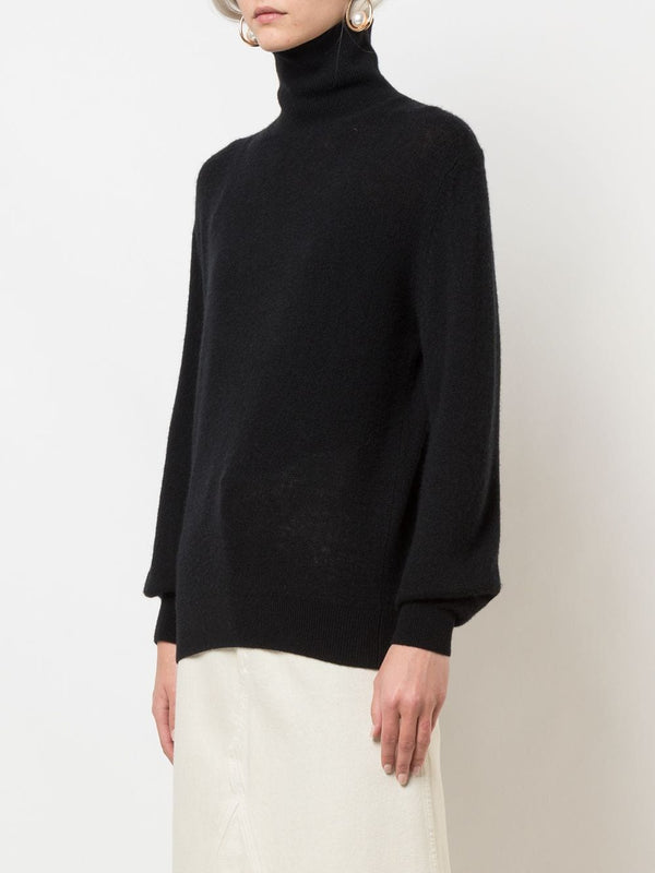KHAITE Julie Turtleneck Sweater - Black