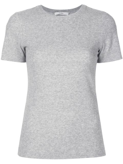TIBI Dry Loop Terry Baby T-Shirt - Heather Grey