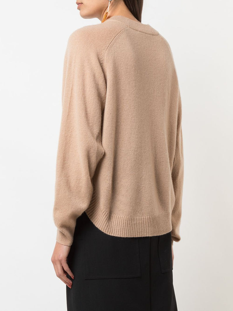 TIBI Spring Cashmere Cocoon Cropped Sweater - Taffy