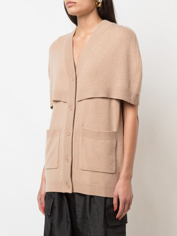 TIBI Spring Cashmere Cocoon Cape Sweater - Taffy