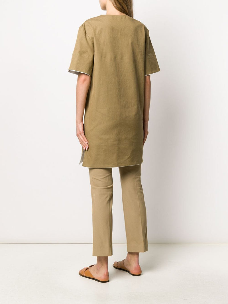 JOSEPH Berns Cotton Linen Canvas - Khaki