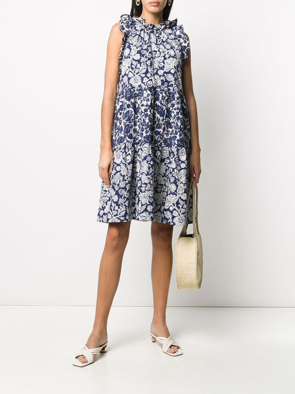 ULLA JOHNSON Talita Dress - Floral Patchwork