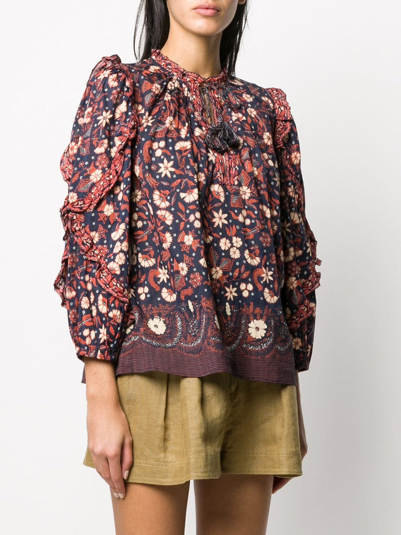 ULLA JOHNSON Azalea Blouse - Midnight