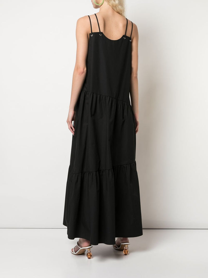 NOMIA Maxi Gathered Cross Front Dress