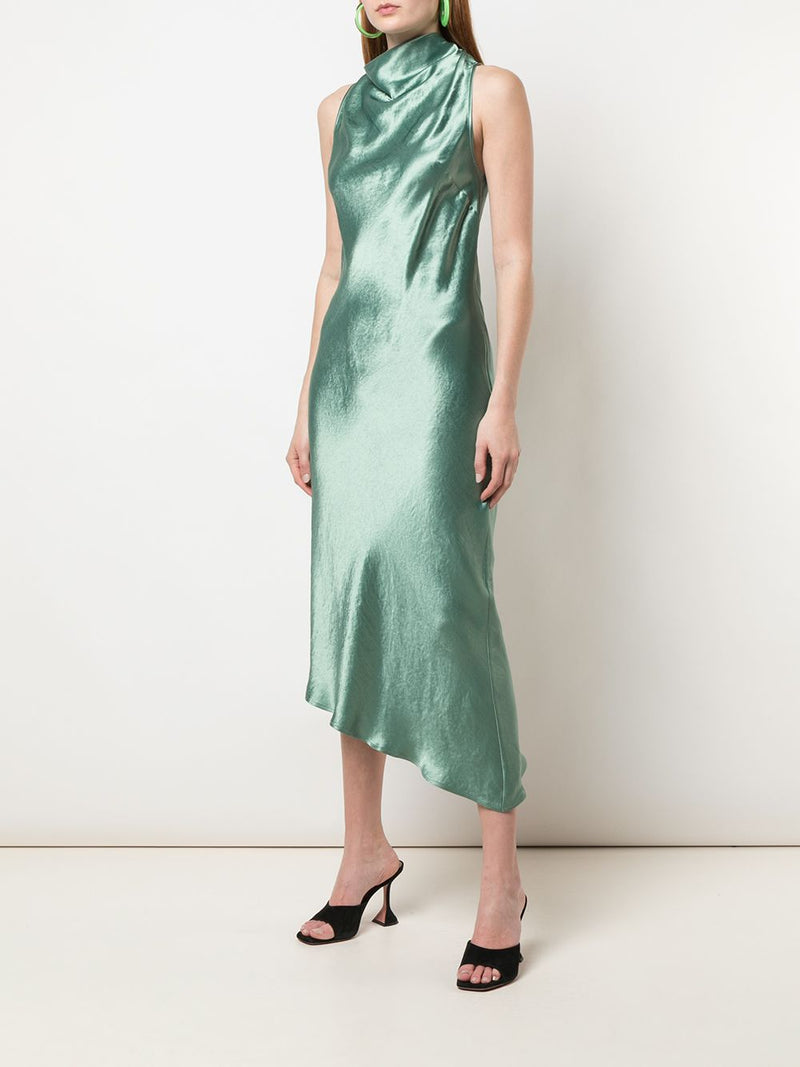 NOMIA Cowl Bias Racerback Dress - Jade
