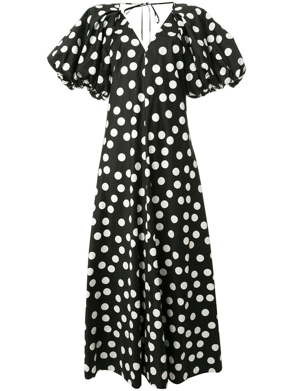 LEE MATHEWS Cherry Spot Puff Sleeve Dress