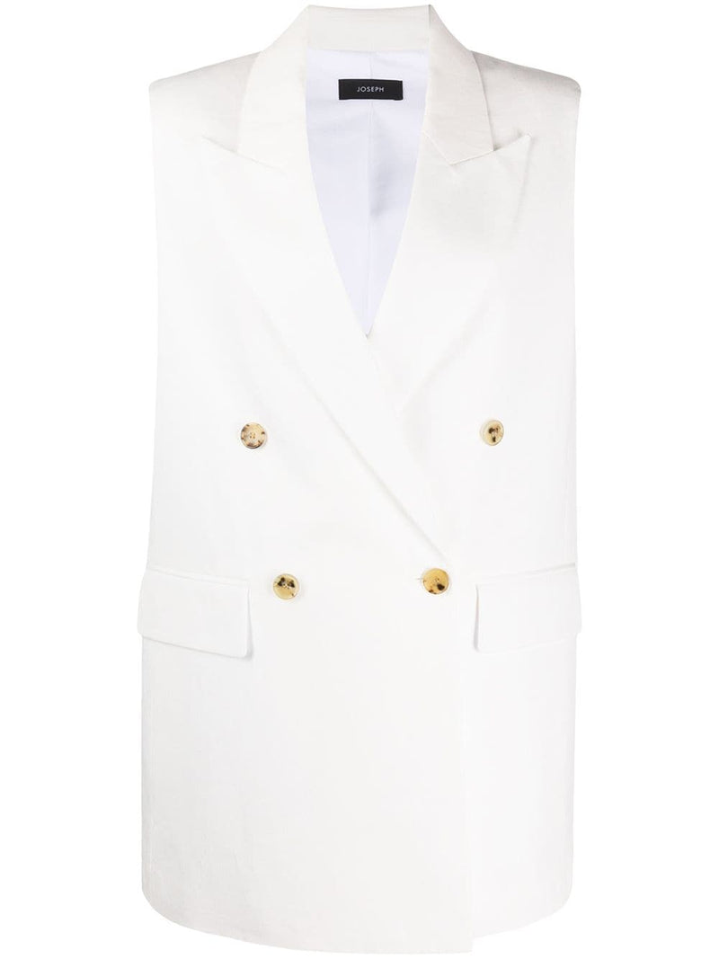 JOSEPH Zappa Cotton Linen Canvas Blazer - Ivory