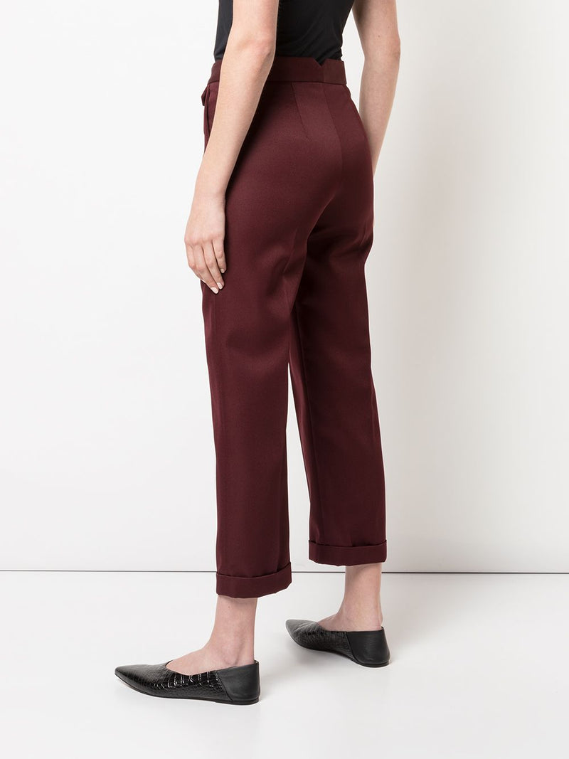 NOMIA Burgundy Cropped Trouser