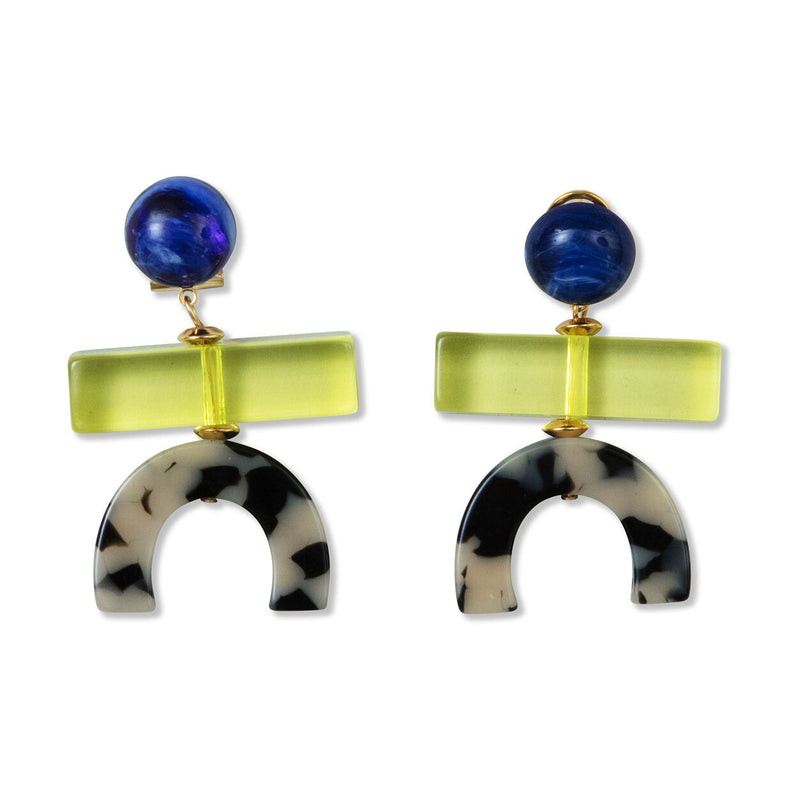 RACHEL COMEY Stroller Earring - Yellow/Dalmation