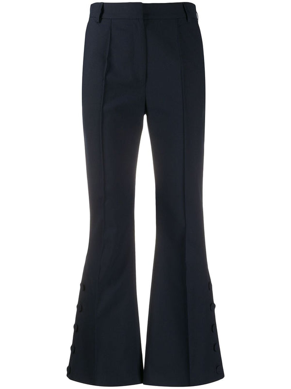 ROKH Dark Navy Button Slit Trouser