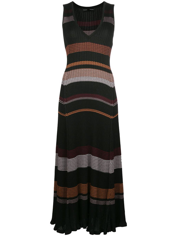PROENZA SCHOULER Viscose Zig Zag Dress - Black Multi (PRE-ORDER)