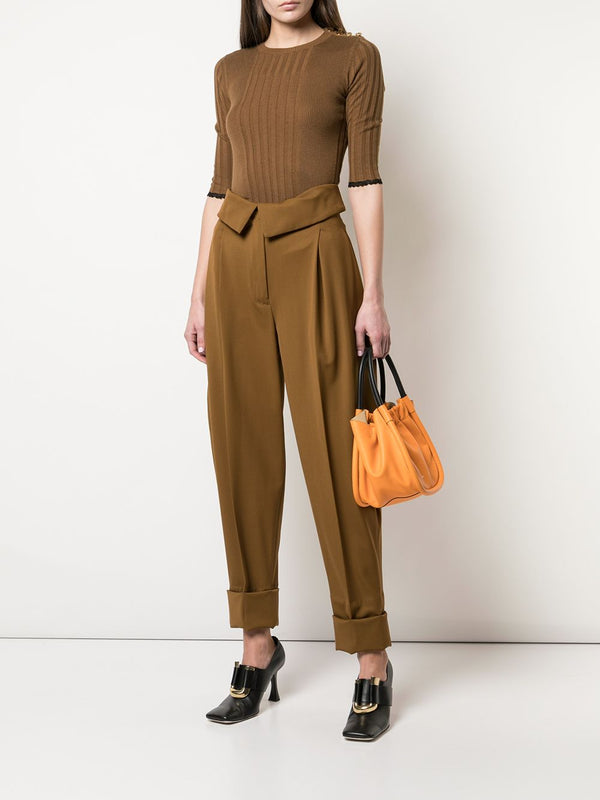PROENZA SCHOULER Silk Cashmere Knit Top - Fatigue