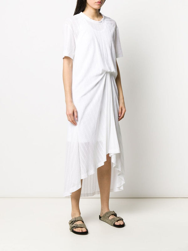 CÉDRIC CHARLIER White Ruched Dress