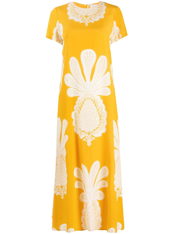 LA DOUBLEJ Silk Pineapple Dress