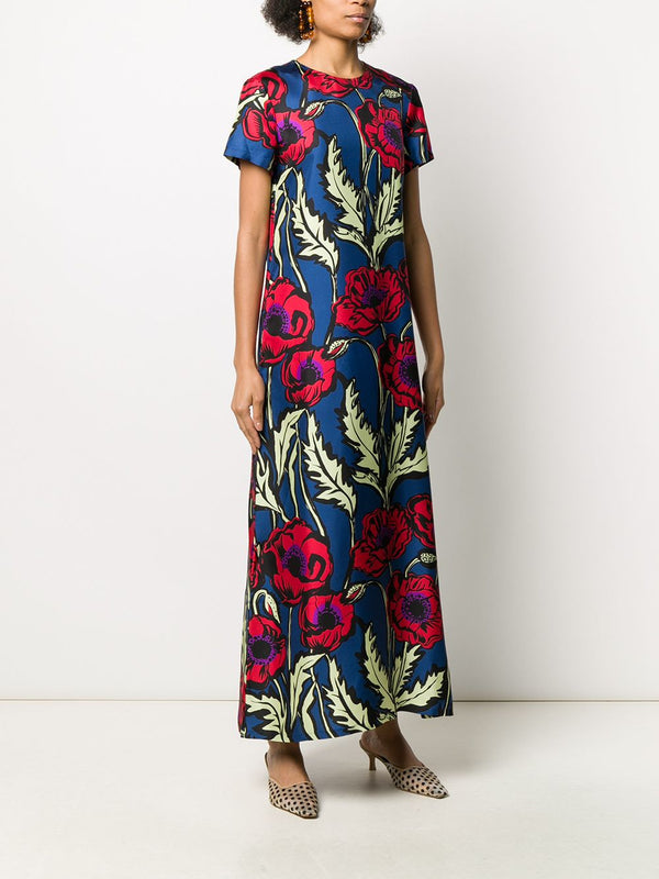 LA DOUBLEJ Silk Floral Swing Dress
