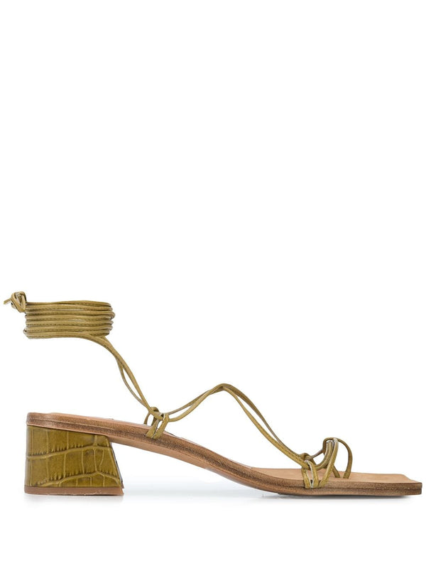 MIISTA Seaweed Croc Leather Cimarron Sandals