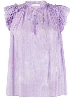 ULLA JOHNSON Clea Top - Lavender