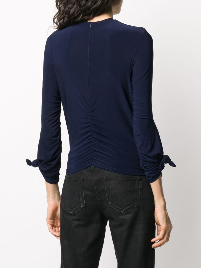 ROKH KNOT STRETCH HIGH NECK TOP