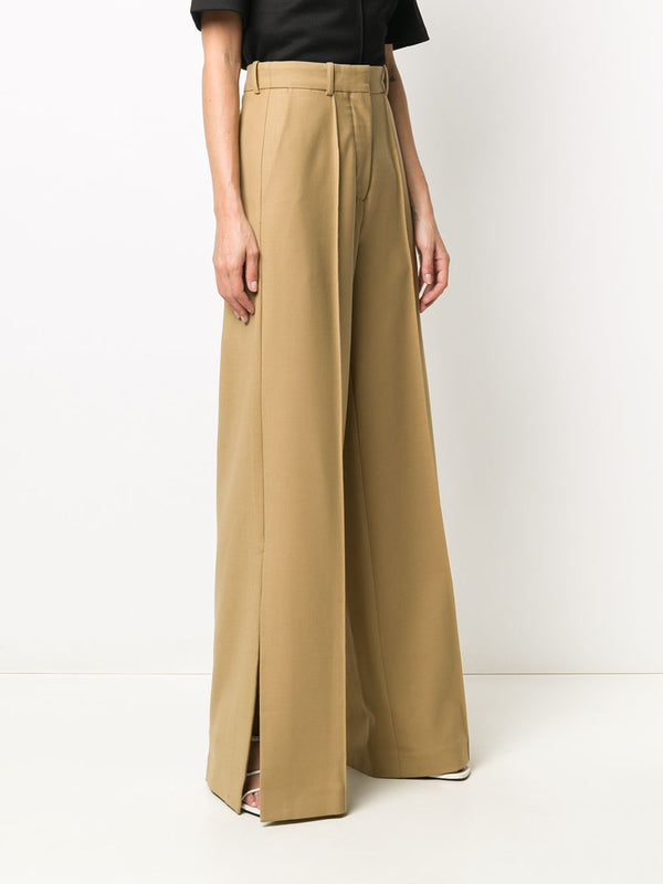 ROKH Wide Leg Trouser - Biscuit