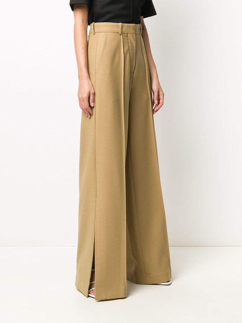 ROKH WIDE LEG TROUSER BISCUIT