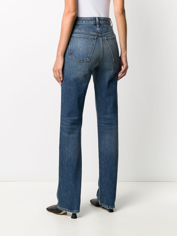 KHAITE Danielle High Rise Denim Jeans