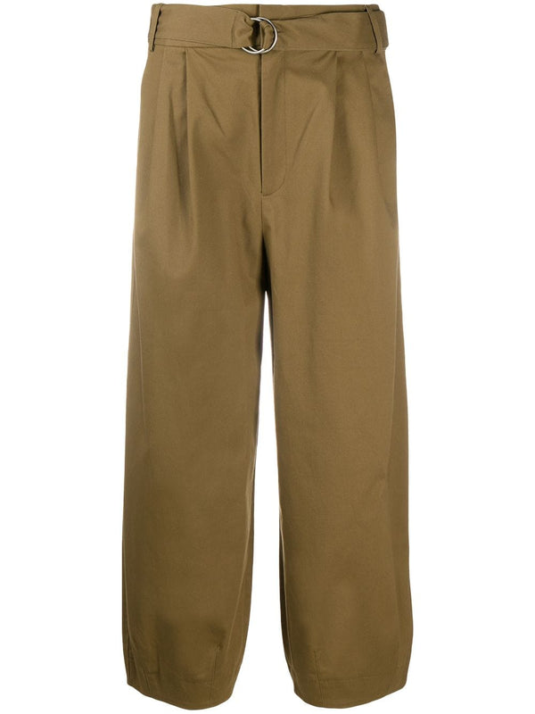 TIBI Myriam Twill Stella Ankle Length Sculpted Pant - Loden