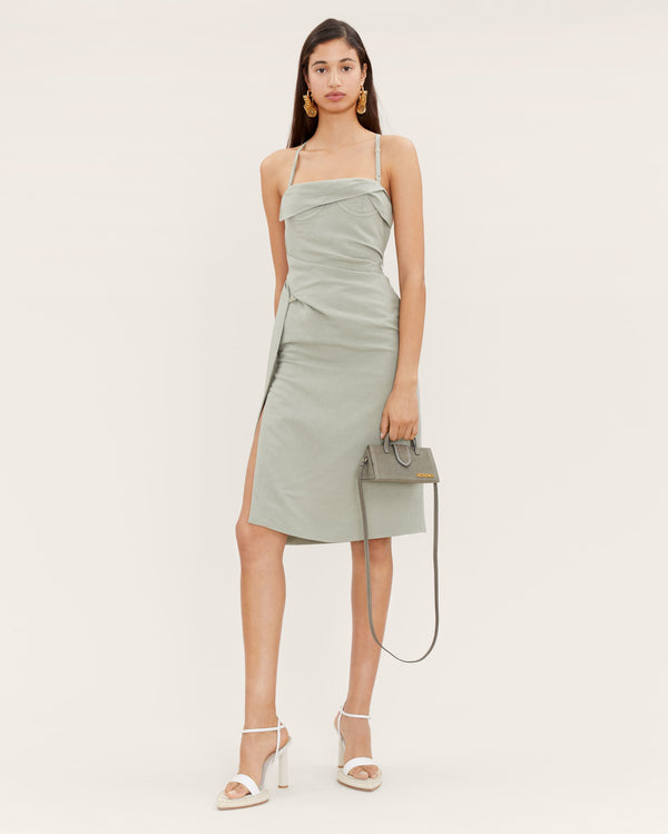 JACQUEMUS La Robe Laurier Linen Dress