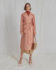 Rejina Pyo Addison Trench Sheer Nylon Peach