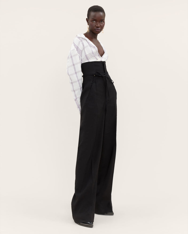 JACQUEMUS Novio Wide-leg Pants - Black