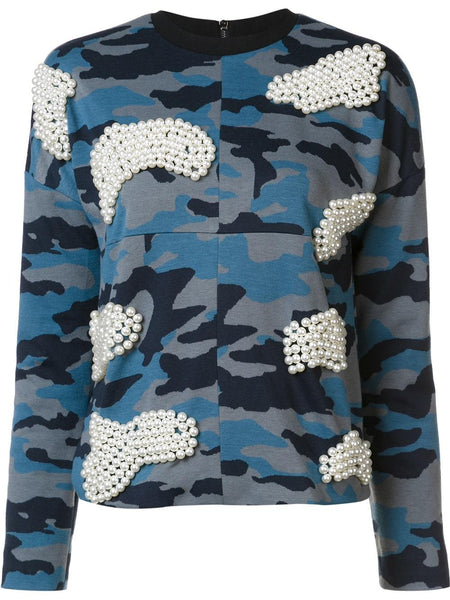 Pearl and Camouflage Sweatshirt