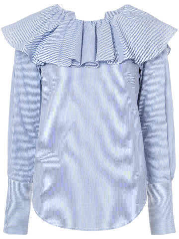 Open Back Ruffle Shirt