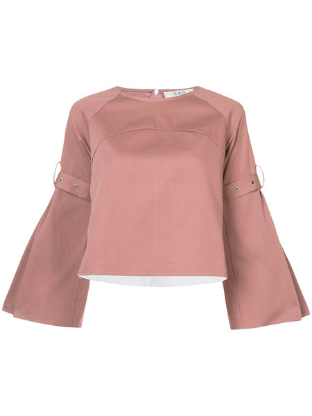 combo pleated blouse