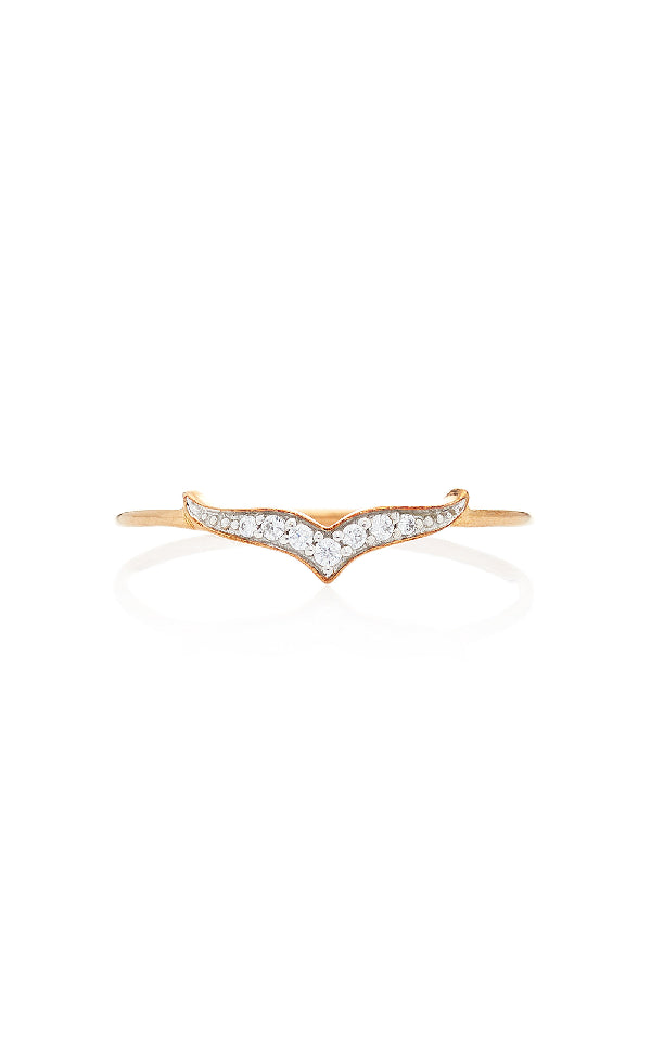 GINETTE NY Diamond Wise Ring 18K Rose Gold