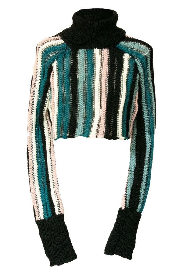 AISLING CAMPS Palm Cropped Sweater - Multi Stripe (PRE-ORDER)