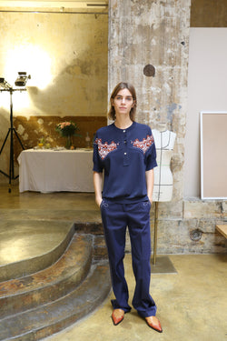 CÉDRIC CHARLIER Trousers - Dark Blue