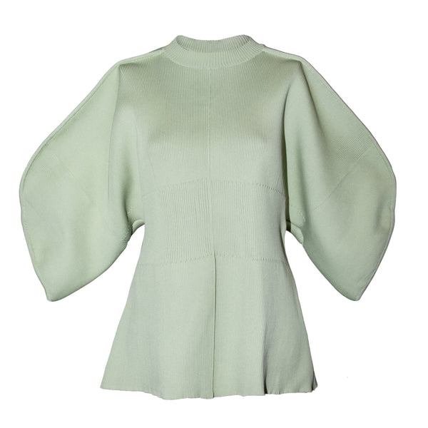 Akira Naka Maisie Out Seam Knit Pullover Sweater / Green