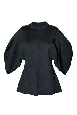 AKIRA NAKA Maisie Out Seam Knit Pullover Sweater / Black