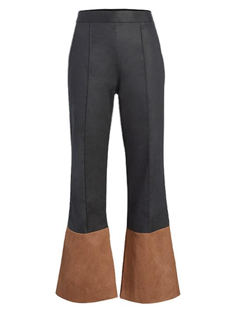 ARIAS Two Tone Flare Pant With Slit At Bottom