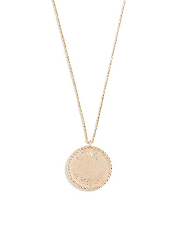 ARIEL GORDON Imperial Disc Pendant - Love