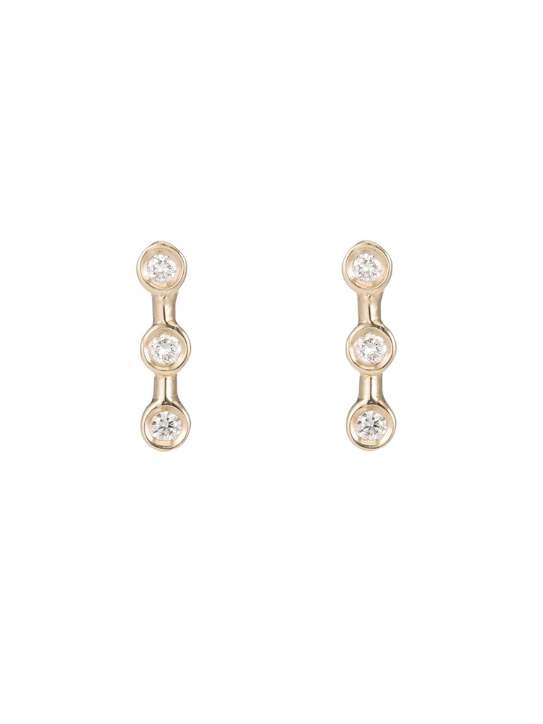 ARIEL GORDON Mini Diamond Horizon Studs