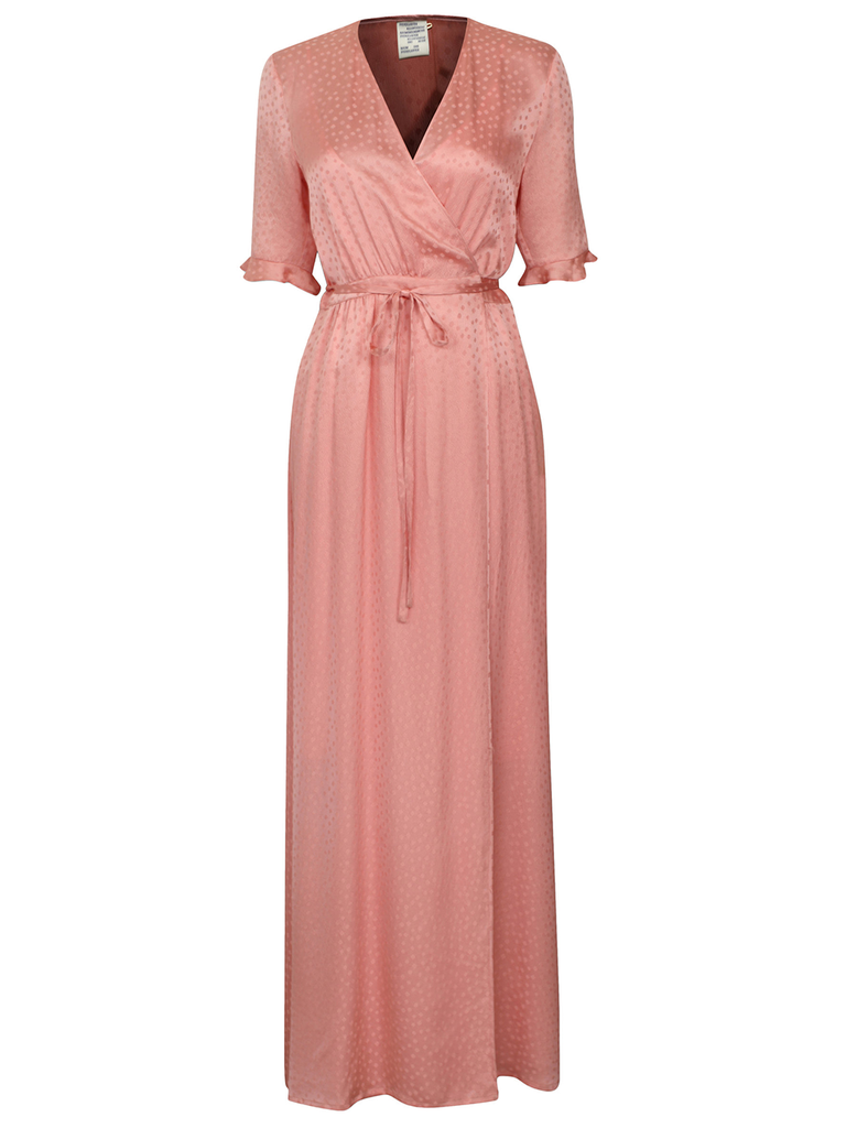 BAUM UND PFERDGARTEN Adelita  Mellon Rose Vneck Wrap Maxi Dress