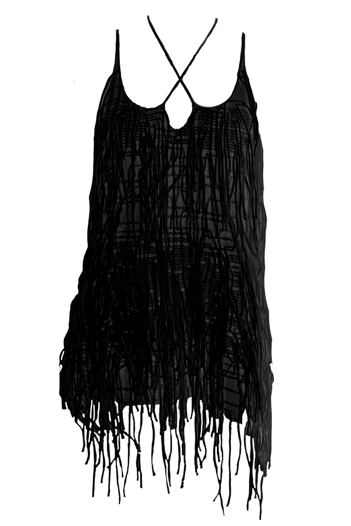 AISLING CAMPS Waterfall Dress - Black