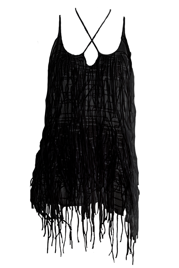 AISLING CAMPS Waterfall Dress - Black (PRE-ORDER)