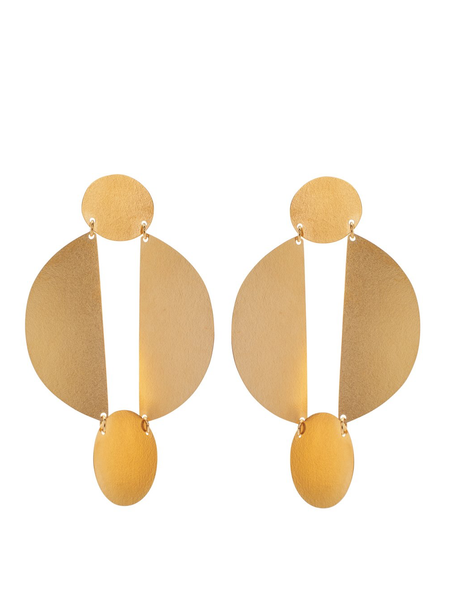 Annie Costello Brown SPLIT CIRCLE Earrings
