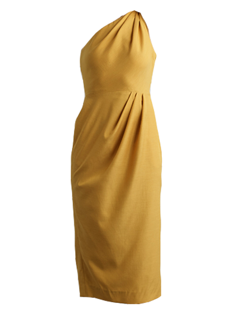 ARIAS One-Shoulder Draped Dress - Dandelion