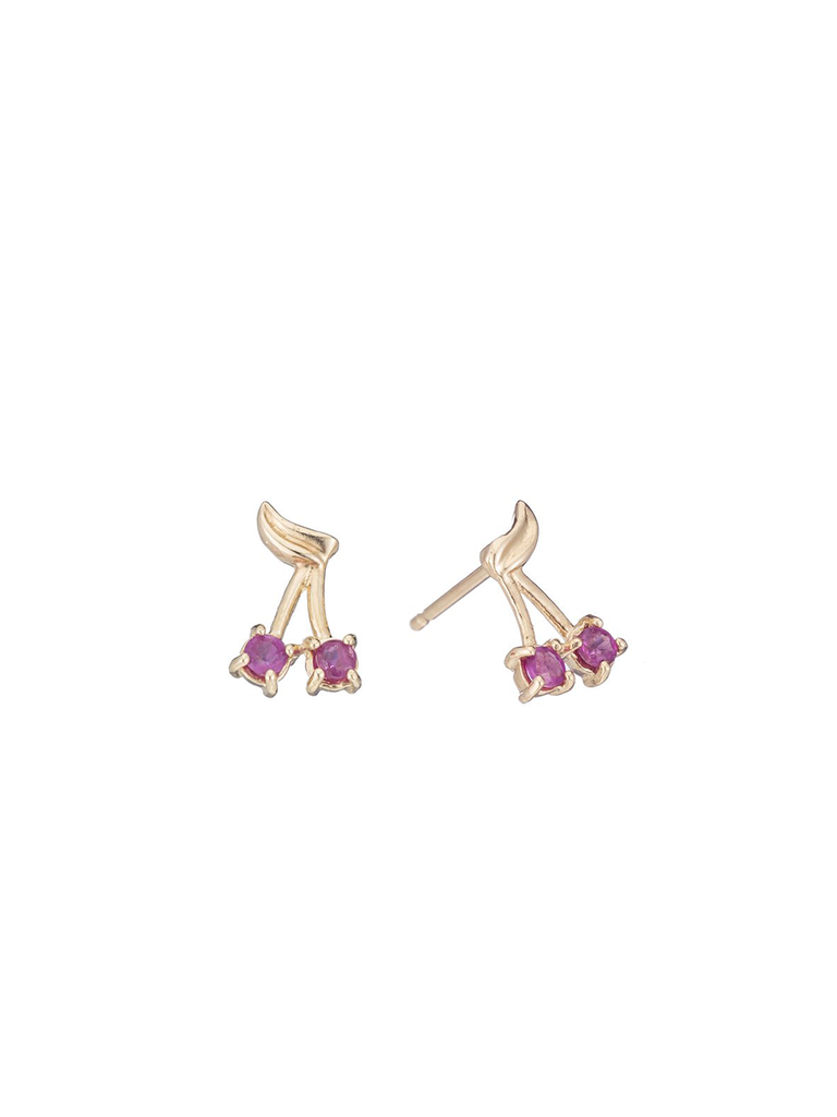 Ariel Gordon Ruby Cherry Bomb Studs