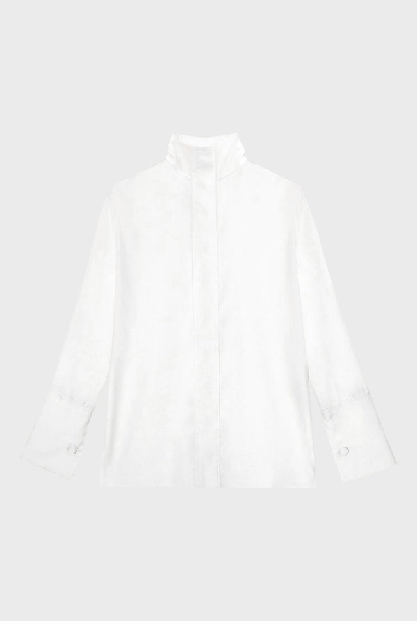 ARIAS Signature Cotton Blouse - White