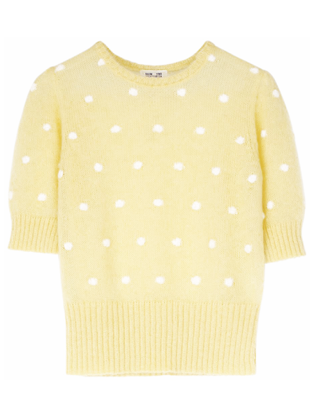 BAUM UND PFERDGARTEN Chance Yellow Knit Top