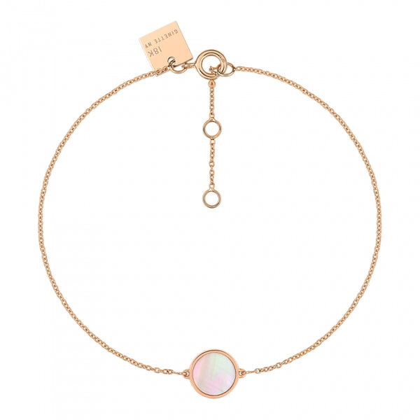 GINETTE NY Mini Ever Pink Mother of Pearl Bracelet