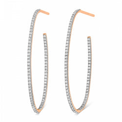 GINETTE NY Large Ellipse Diamond Hoop Earrings